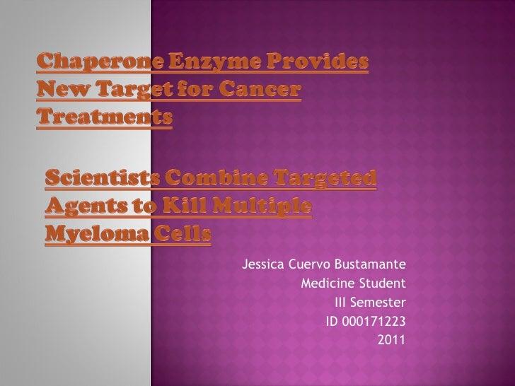 Jessica Cuervo Bustamante          Medicine Student               III Semester             ID 000171223                   ...