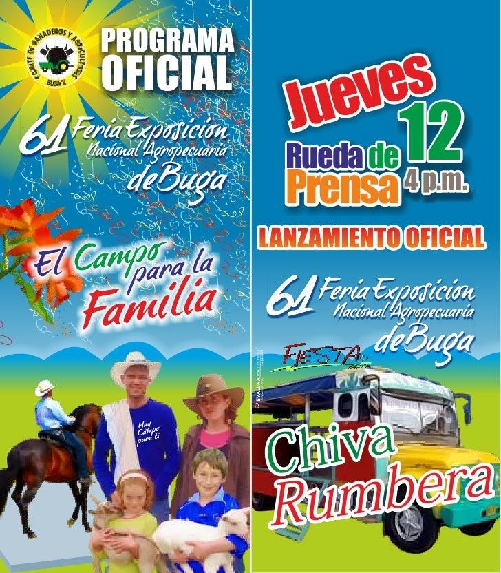 PROGRAMAOFICIAL             Jueves             Rueda de 12             Prensa 4 p.m.           LANZAMIENTO OFICIAL        ...