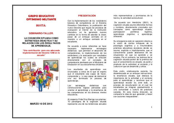 GRUPO EDUCATIVO                                PRESENTACIÓN                       más representativas y promisorias de la ...
