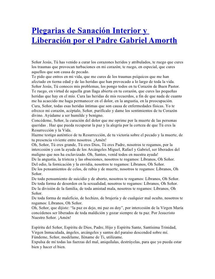Plegarias De Sanaci N Interior Y Liberaci N Por El Padre Gabriel Amor