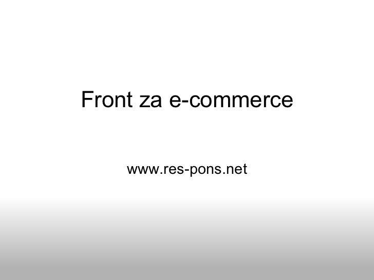 Front za e-commerce www.res-pons.net