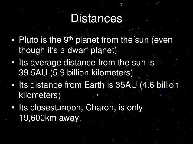 pluto distance from planet earth - photo #31
