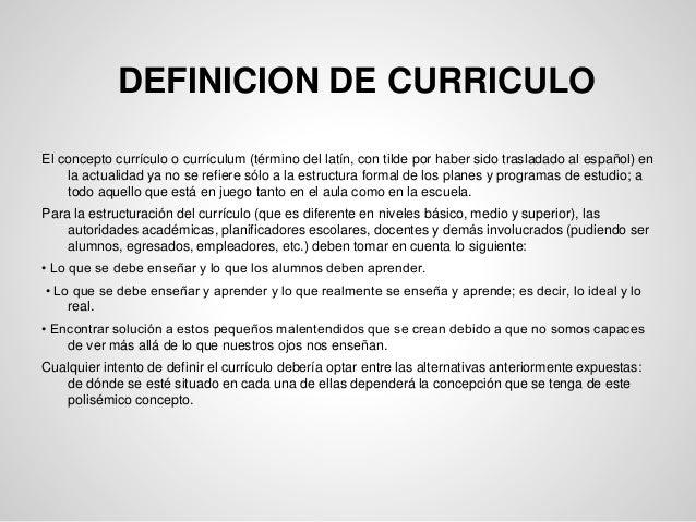 Plenaria historia y definici n de curriculo for Origen y definicion de oficina