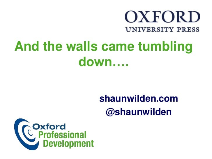 And the walls came tumbling down….<br />shaunwilden.com<br />@shaunwilden<br />