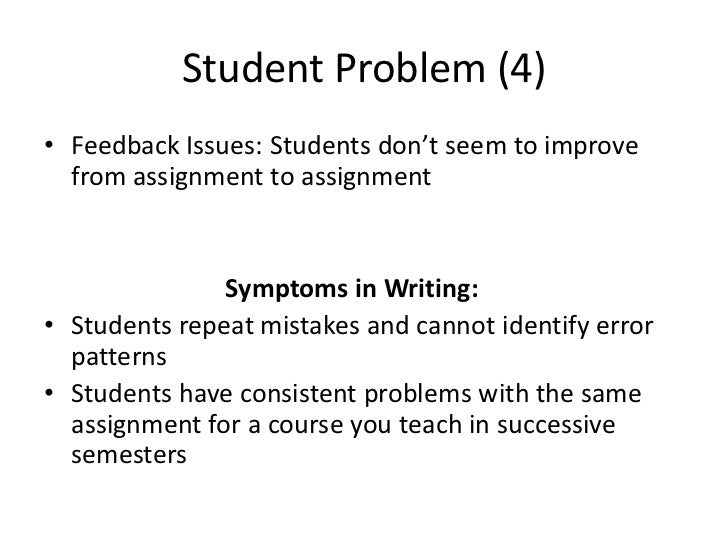 students problem in writing