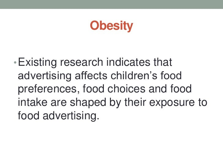 Tobacco Advertising And Children S Food Choices