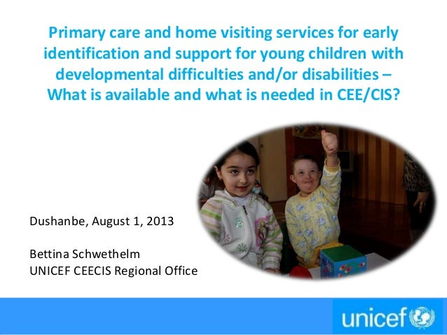 Primary care and home visiting services for early identification and support for young children with developmental difficu...