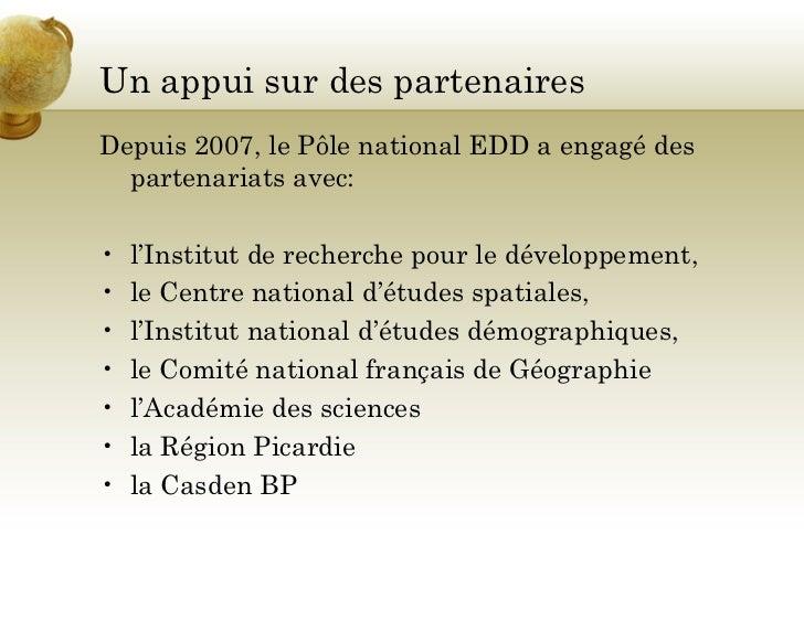 Le pôle national éducation au développement durable Slide 3