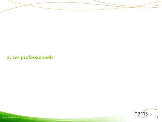 2. Les professionnels© Harris Interactive         10