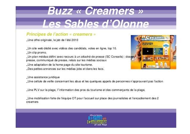 PLANNING CREAMERS Les dates clefs : • 12 avril au 26 mai : mise en ligne du site et dépôt des vidéos par les candidats • 7...