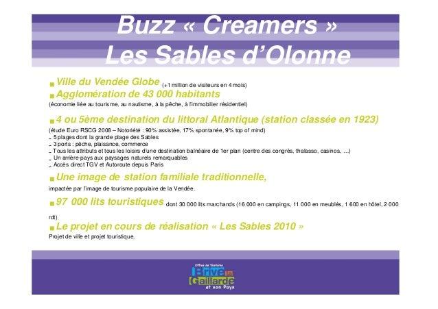 Titre titre titre Les acteurs Buzz « Creamers » Les Sables d'Olonne Le maitre d'ouvrage : Le Syndicat Mixte du Canton des ...