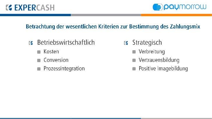 Betrachtung der wesentlichen Kriterien zur Bestimmungdes Zahlungsmix   Betriebswirtschaftlich         Strategisch     Kost...