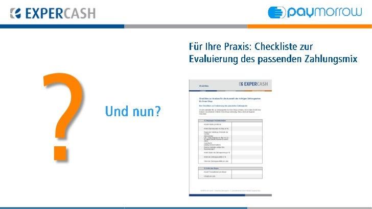 Für Ihre Praxis: Beratung zur           Evaluierung des passenden ZahlungsmixUnd nun?