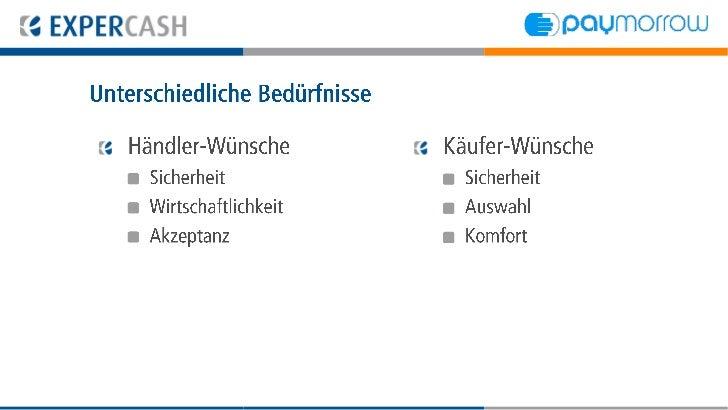 Unterschiedliche Bedürfnisse   Händler-Wünsche         Käufer-Wünsche    Sicherheit                 Sicherheit    Wirtscha...