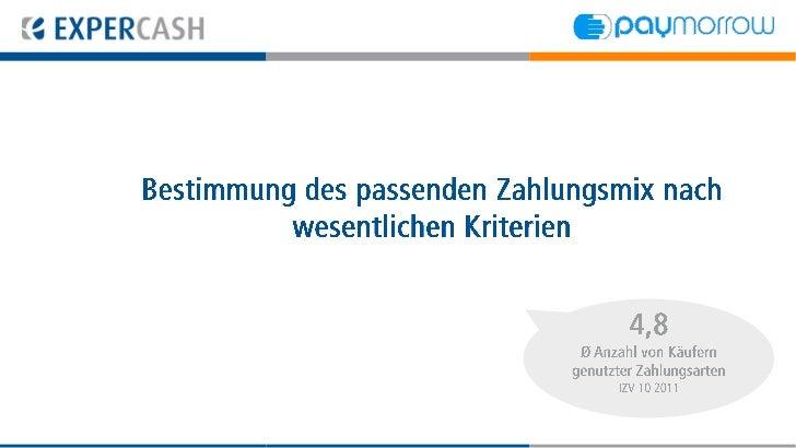 Bestimmung des passenden Zahlungsmix      nach wesentlichen Kriterien                                 4,8                 ...