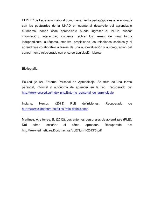Plep de legislacion laboral y su relacion con los postulados de la unad Slide 3