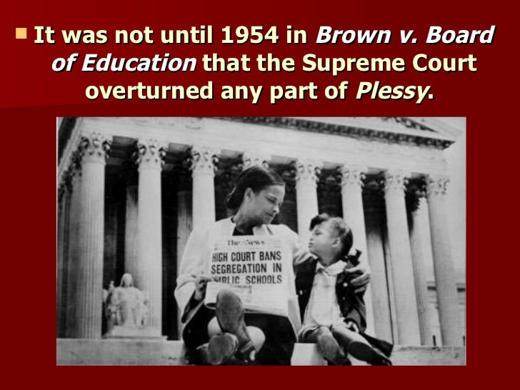 plessy v ferguson vs brown v Plessy addressed the  plessy v ferguson  separate but equal stayed standard teaching in us law until its disavowal in the 1954 supreme court choice brown v.