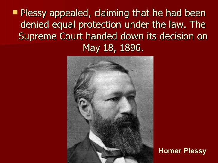plessy v. ferguson essay Free essay: huiliang yang his 112 professor mcleod 4/24/10 compare and contrast plessy v ferguson and brown v board of education the supreme court has.