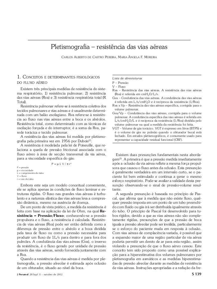 Pletismografia – resistência das vias aéreas                            Pletismografia – resistência das vias aéreas      ...