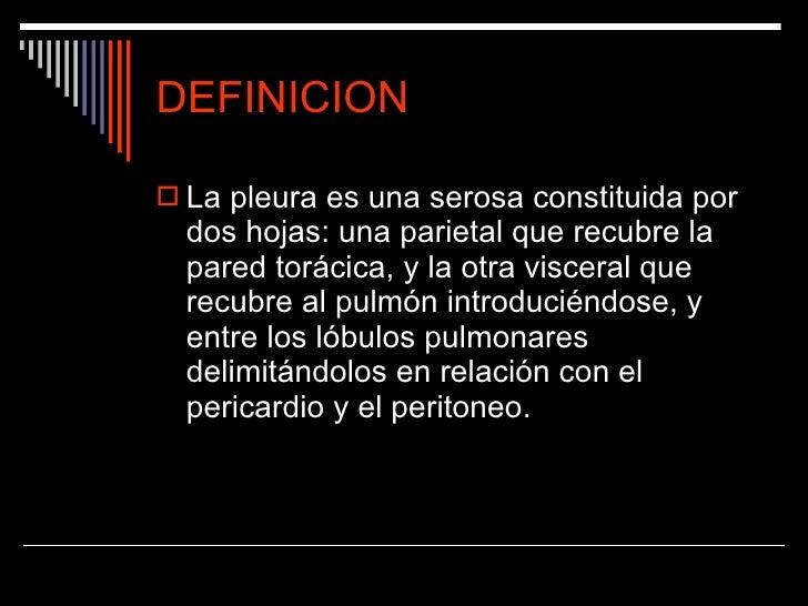PLEURESIA DEFINICION PDF
