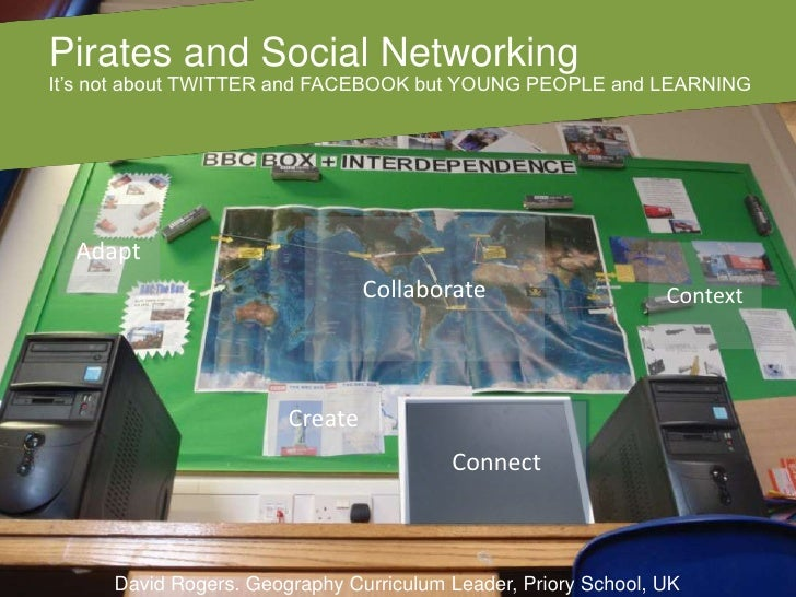 Pirates and Social Networking<br />It's not about TWITTER and FACEBOOK but YOUNG PEOPLE and LEARNING<br />Adapt<br />Colla...
