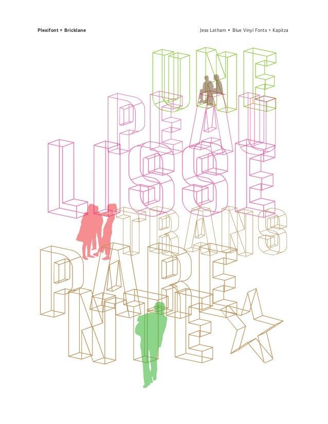 Plexifont + Bricklane   Jess Latham • Blue Vinyl Fonts + Kapitza      UNE       o     PEAU   Lisse    OTRANSpare nte:  u