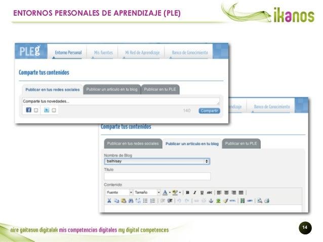 !14 ENTORNOS PERSONALES DE APRENDIZAJE (PLE)