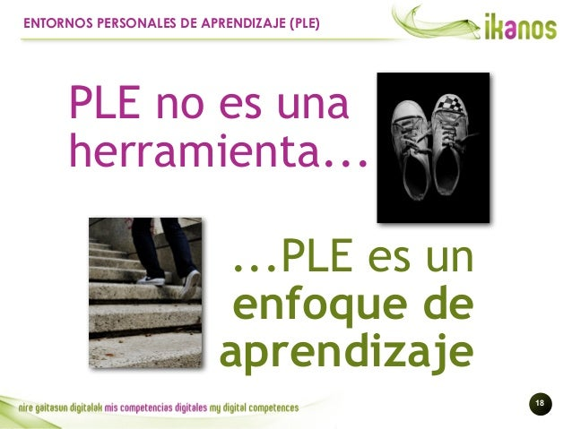 !18 ENTORNOS PERSONALES DE APRENDIZAJE (PLE) ...PLE es un enfoque de aprendizaje PLE no es una herramienta...