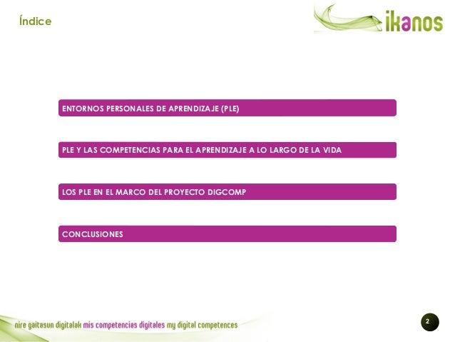 WORKSHOP IKANOS 2014: Entornos Personales de Aprendizaje y Competencia Digital Slide 2