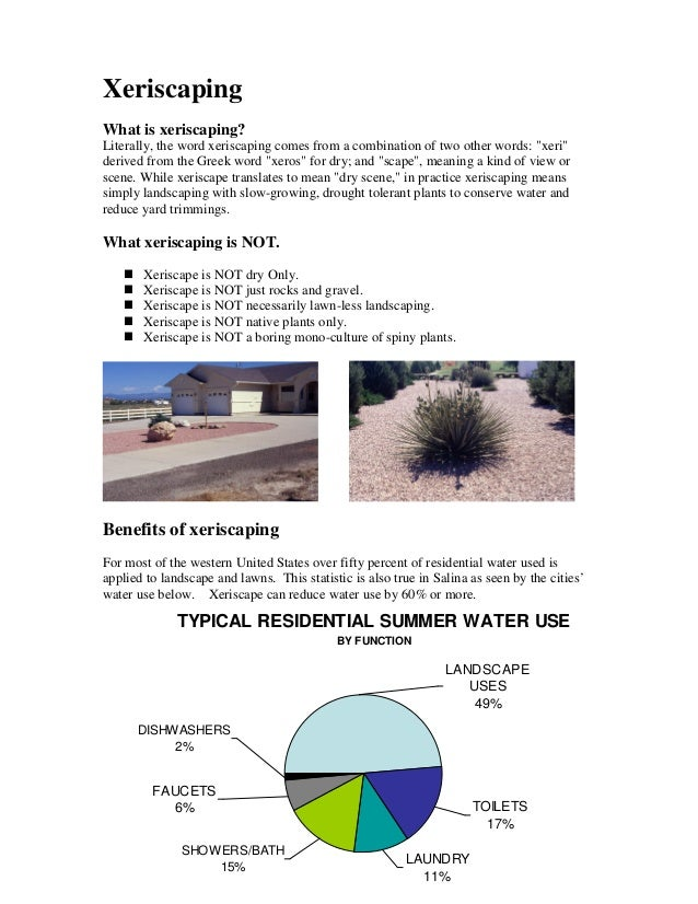 """XeriscapingWhat is xeriscaping?Literally, the word xeriscaping comes from a combination of two other words: """"xeri""""derived ..."""