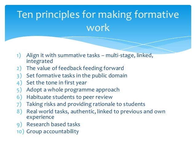 Why Formative What Is It Why DoesnT It Work How Can We Do It Bett