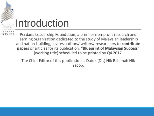 Plf call for papers blueprint of malaysian success malvernweather Gallery