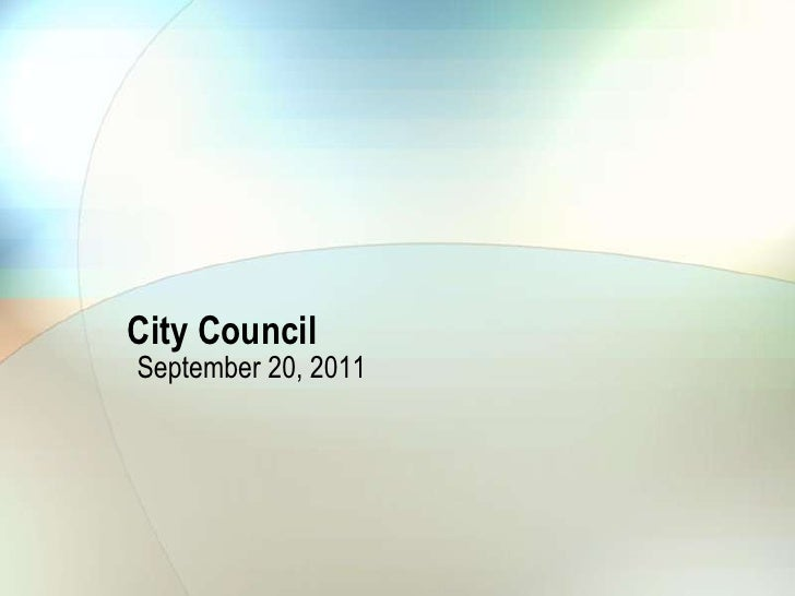 City Council<br />September 20, 2011<br />