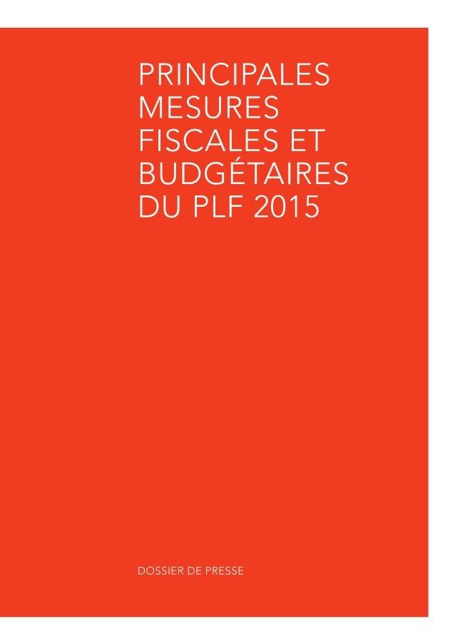 Projet de Loi de Finances pour 2015