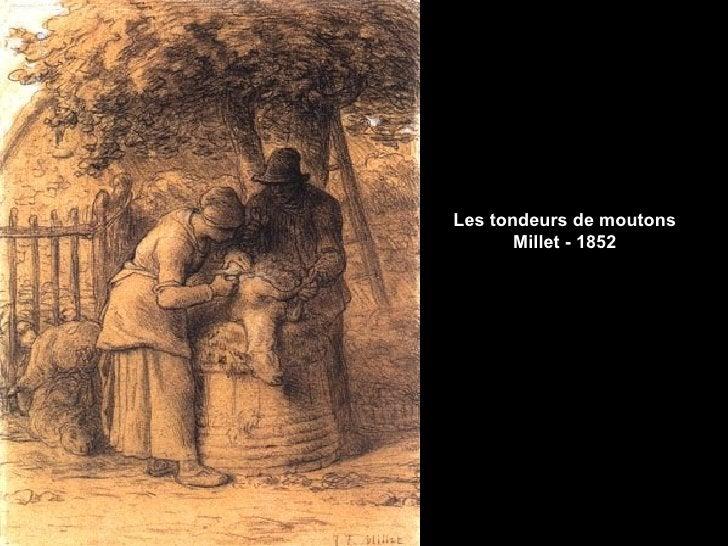 Les tondeurs de moutons       Millet - 1852
