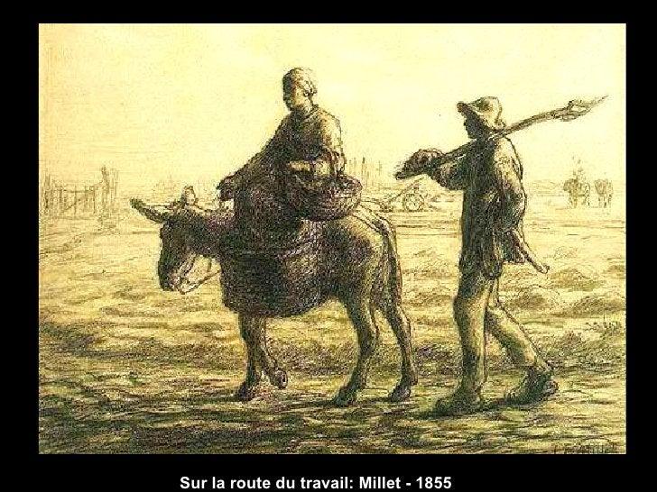 Sur la route du travail: Millet - 1855
