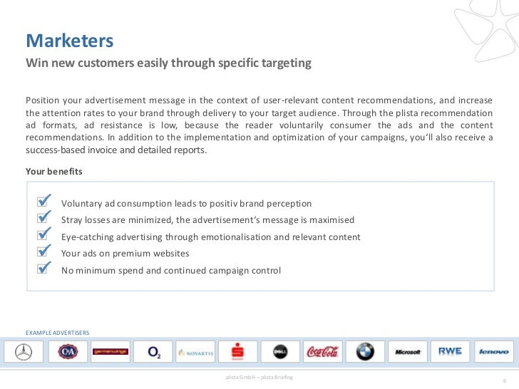 MarketersWin new customers easily through specific targetingPosition your advertisement message in the context of user-rel...