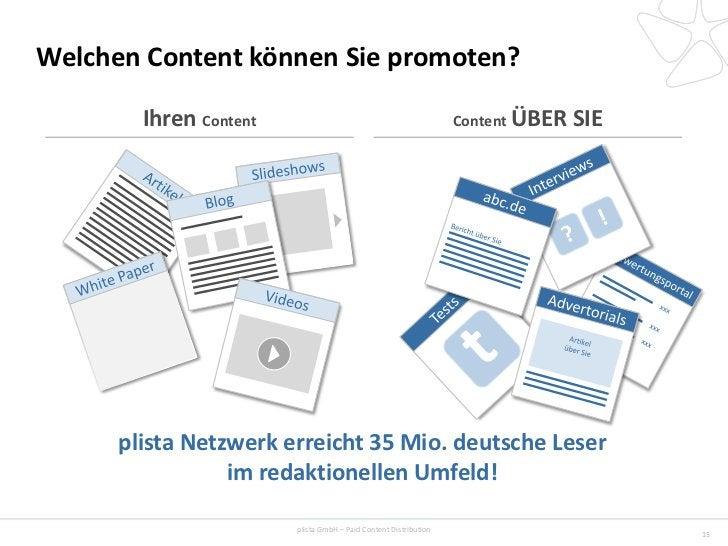 Welchen Content können Sie promoten?        Ihren Content                                             Content ÜBER   SIE  ...