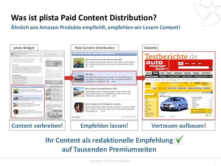 Was ist plista Paid Content Distribution?Ähnlich wie Amazon Produkte empfiehlt, empfehlen wir Lesern Content! plista Widge...