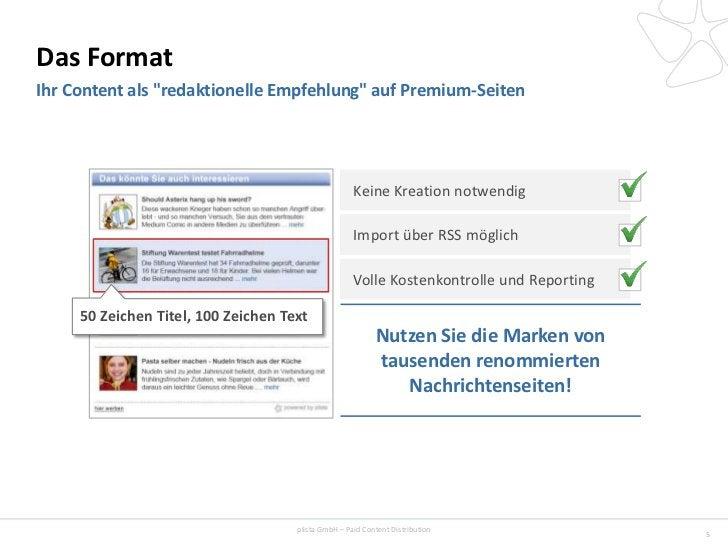 """Das FormatIhr Content als """"redaktionelle Empfehlung"""" auf Premium-Seiten                                                   ..."""