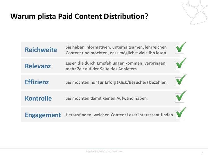 Warum plista Paid Content Distribution?                 Sie haben informativen, unterhaltsamen, lehrreichen    Reichweite ...