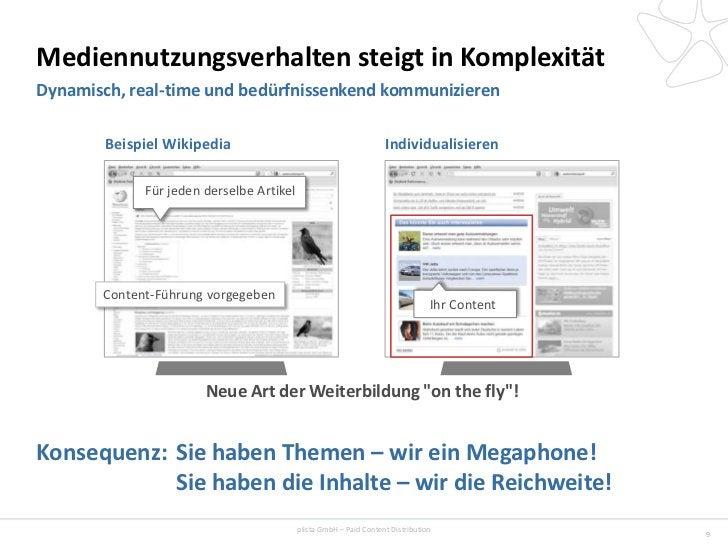 Mediennutzungsverhalten steigt in KomplexitätDynamisch, real-time und bedürfnissenkend kommunizieren        Beispiel Wikip...