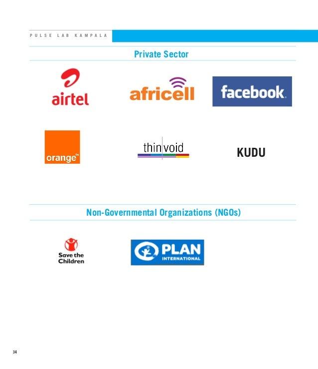 P U L S E L A B K A M P A L A Private Sector KUDU Non-Governmental Organizations (NGOs) 34