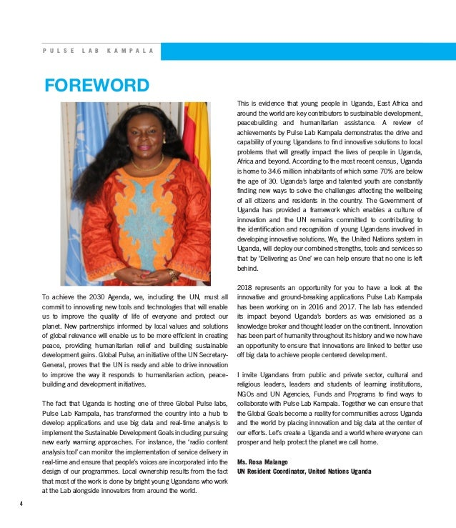 P U L S E L A B K A M P A L A FOREWORD To achieve the 2030 Agenda, we, including the UN, must all commit to innovating new...