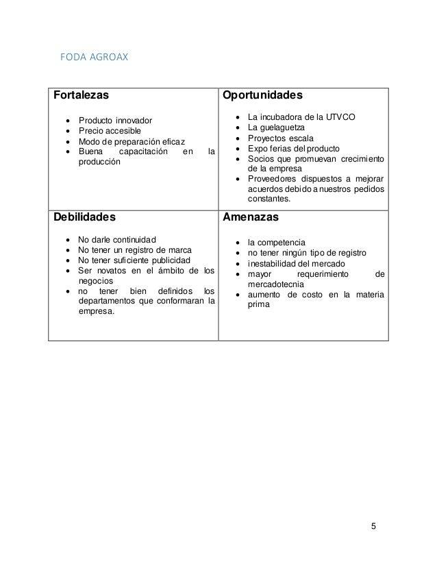Plan de negocios ejemplo for Plan de negocios ejemplo pdf