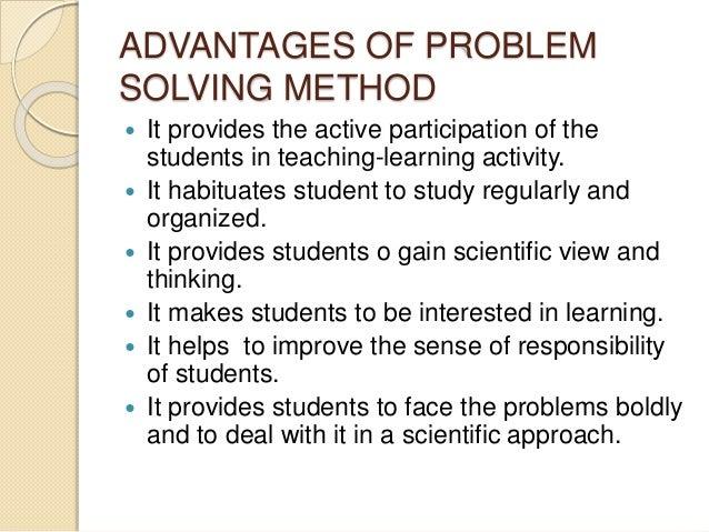 advantages and disadvantages of problem solving model