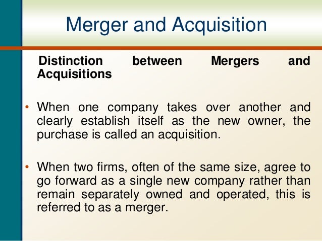 difference between merger and amalgamation pdf