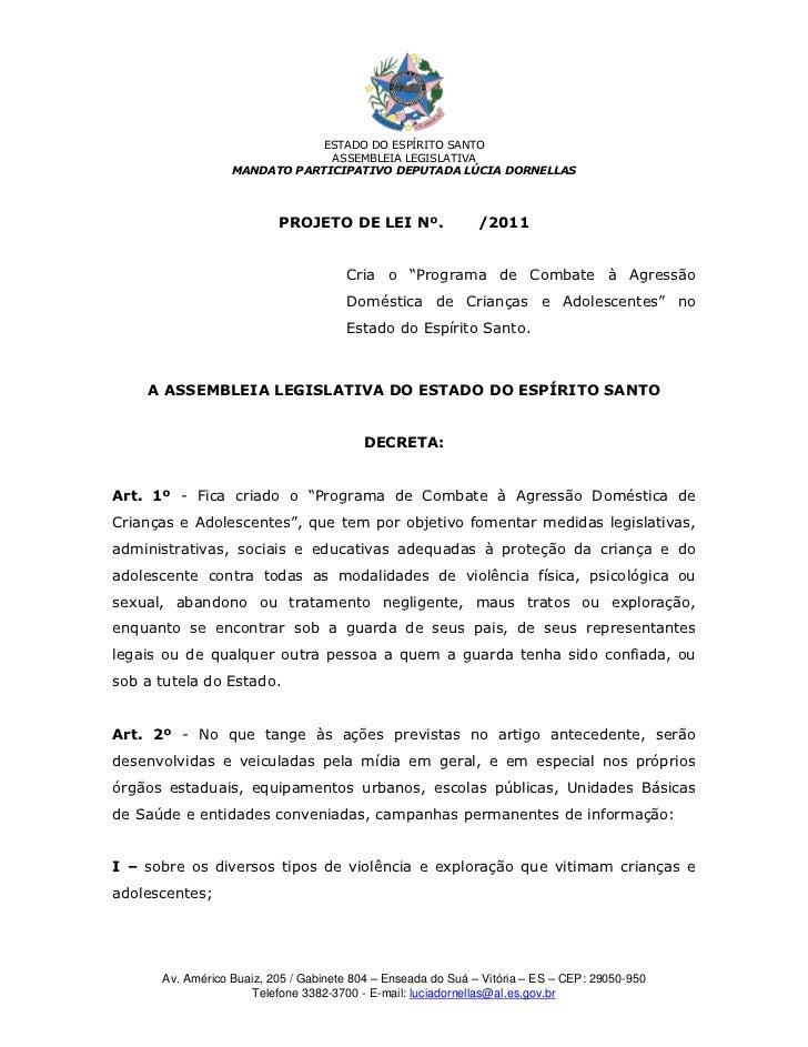 ESTADO DO ESPÍRITO SANTO                               ASSEMBLEIA LEGISLATIVA                  MANDATO PARTICIPATIVO DEPUT...