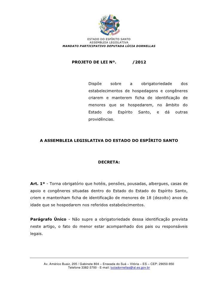 ESTADO DO ESPÍRITO SANTO                                   ASSEMBLEIA LEGISLATIVA                      MANDATO PARTICIPATI...