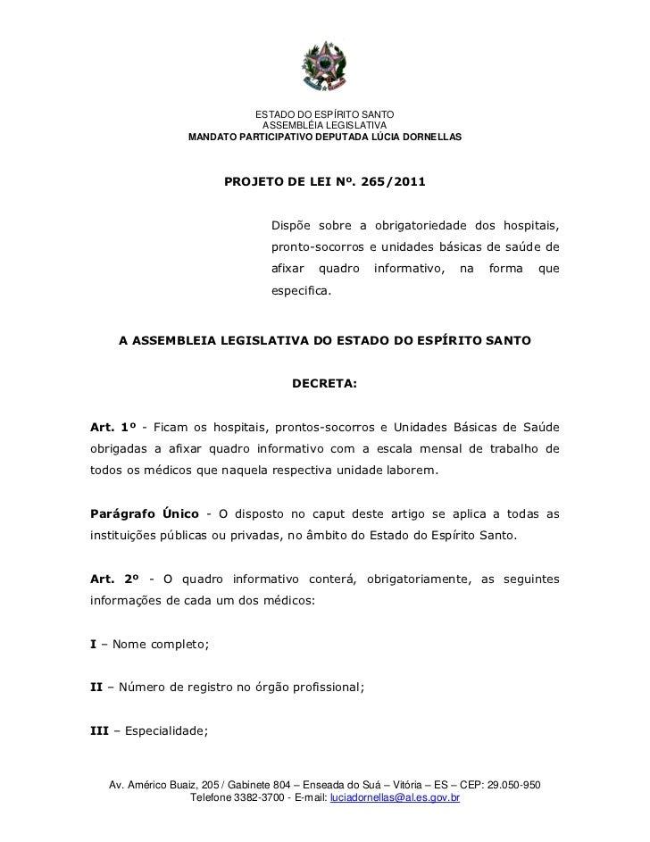 ESTADO DO ESPÍRITO SANTO                              ASSEMBLÉIA LEGISLATIVA                  MANDATO PARTICIPATIVO DEPUTA...